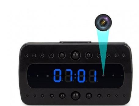 Mini réveil avec caméra cachée 1080p Wi-Fi