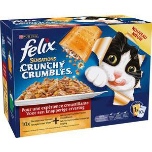 Sachets repas pour chats Felix Crunchy crumble