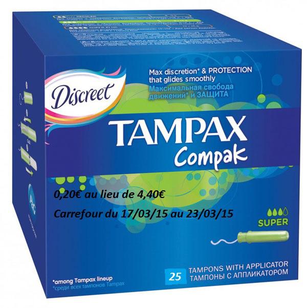 Méga Pack de Tampons Tampax Compak