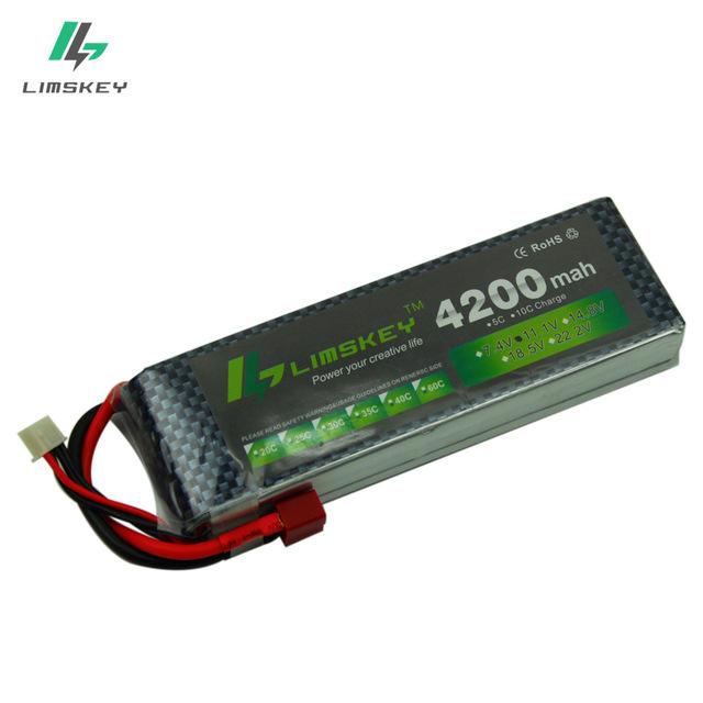 Lot de 2 batteries Limskey pour drone et voiture RC - 4200Mah, 11.1V, 30C, Plusieurs plugs