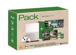 Pack Xbox One S 1 To + Assassin's Creed Origins + Rainbow Six Siege + Steep + Call of Duty WW II + The Crew + 6 mois Xbox Live Gold et 1 mois Xbox Game Pass (Frontaliers Belgique)