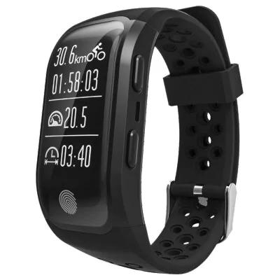 Bracelet Connecté Etanche GPS S908 compatible Android et iOS - Noir