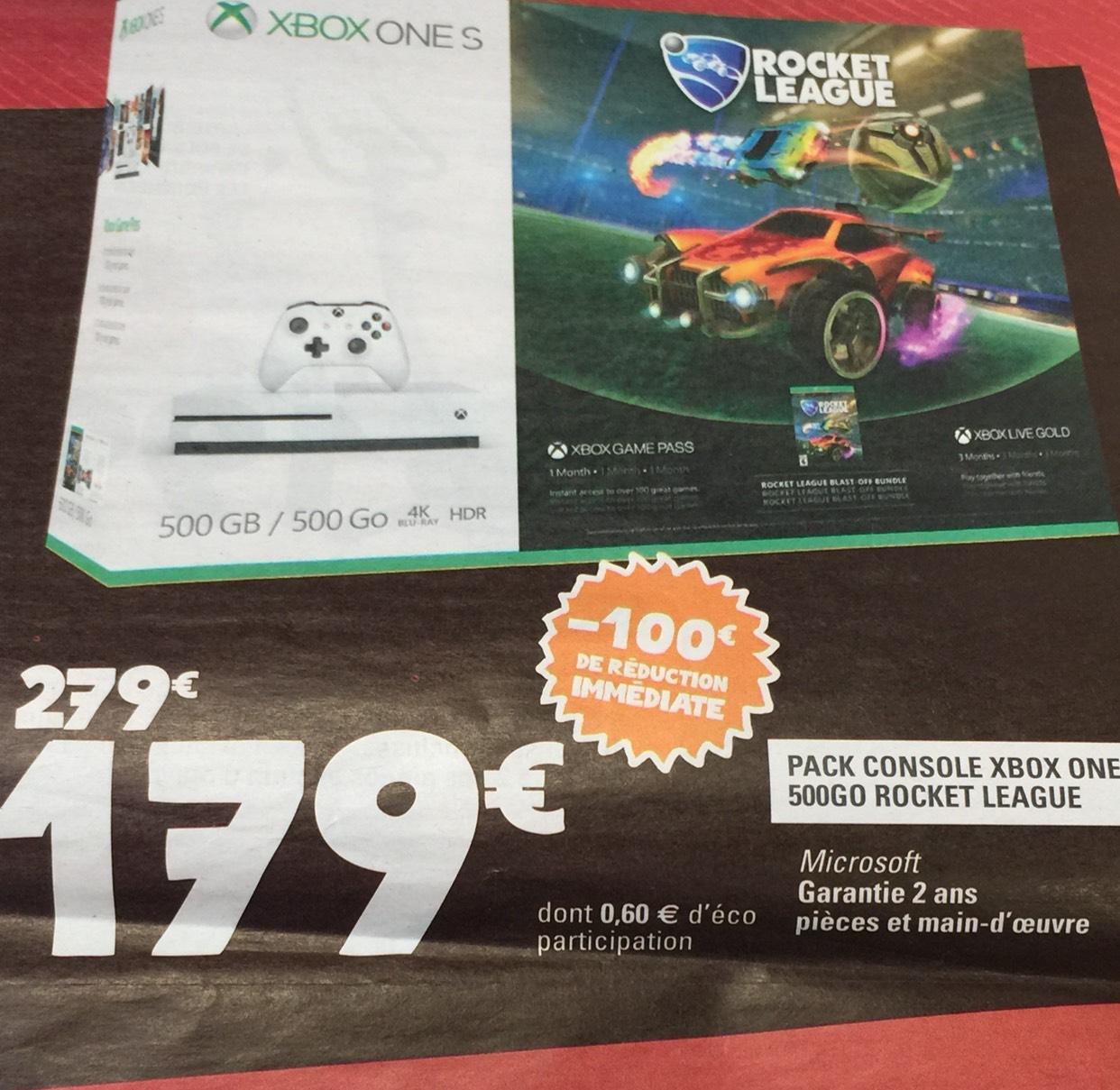 Console Microsoft Xbox One S 500 go + Rocket League