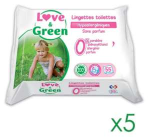Sélection d'articles en promotion - Ex : 275 lingettes Love & Green
