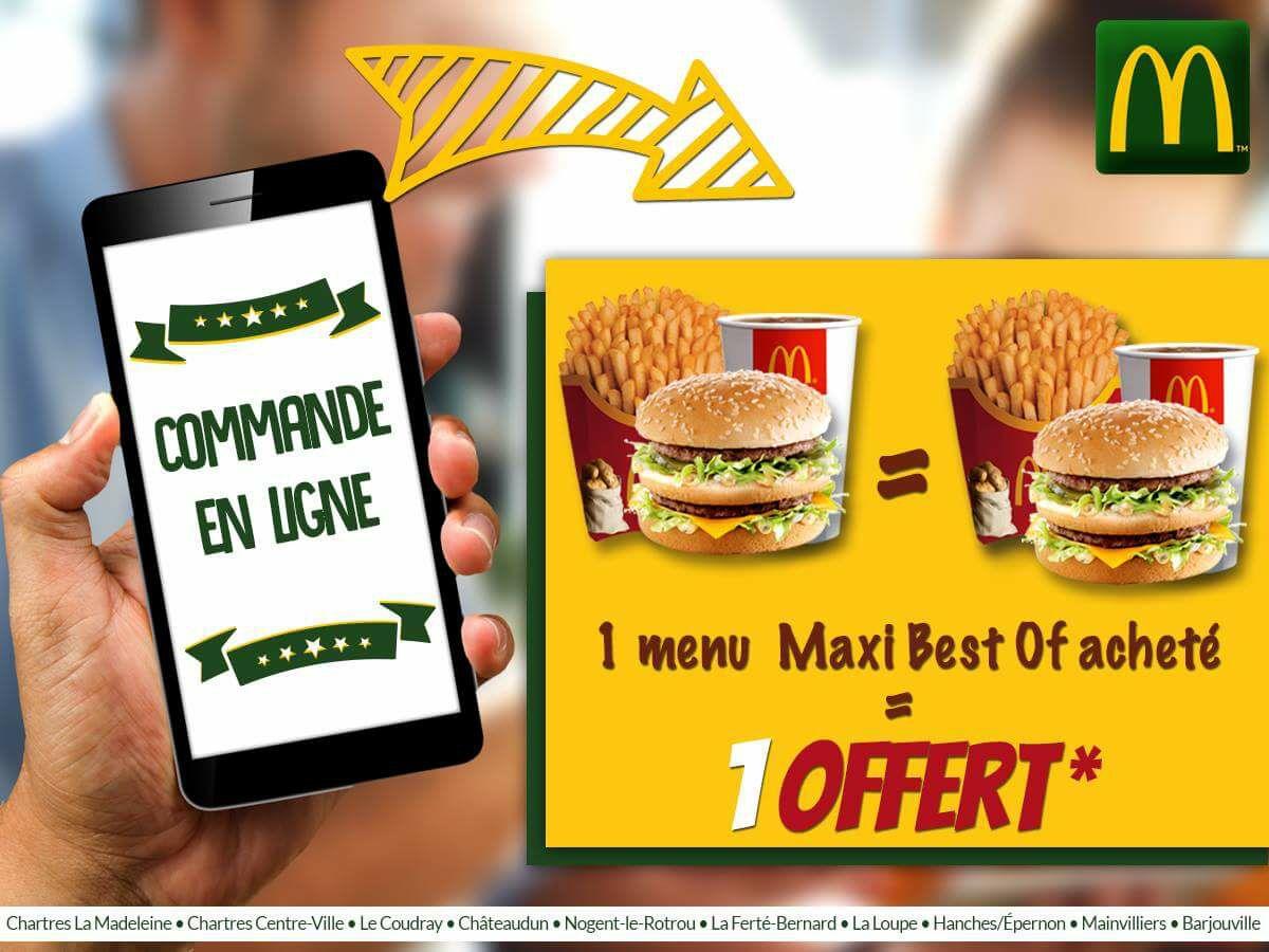 1 menu Maxi Best Of acheté = 1 offert (en ligne ou application) - (Eure-et-Loir - 28)