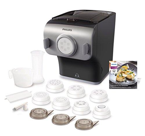 Machine à pâte automatique avec balance et 8 formes de bol Philips HR2358/12 Pastamaker + Philips HR2455/09 Plaques pour biscuits