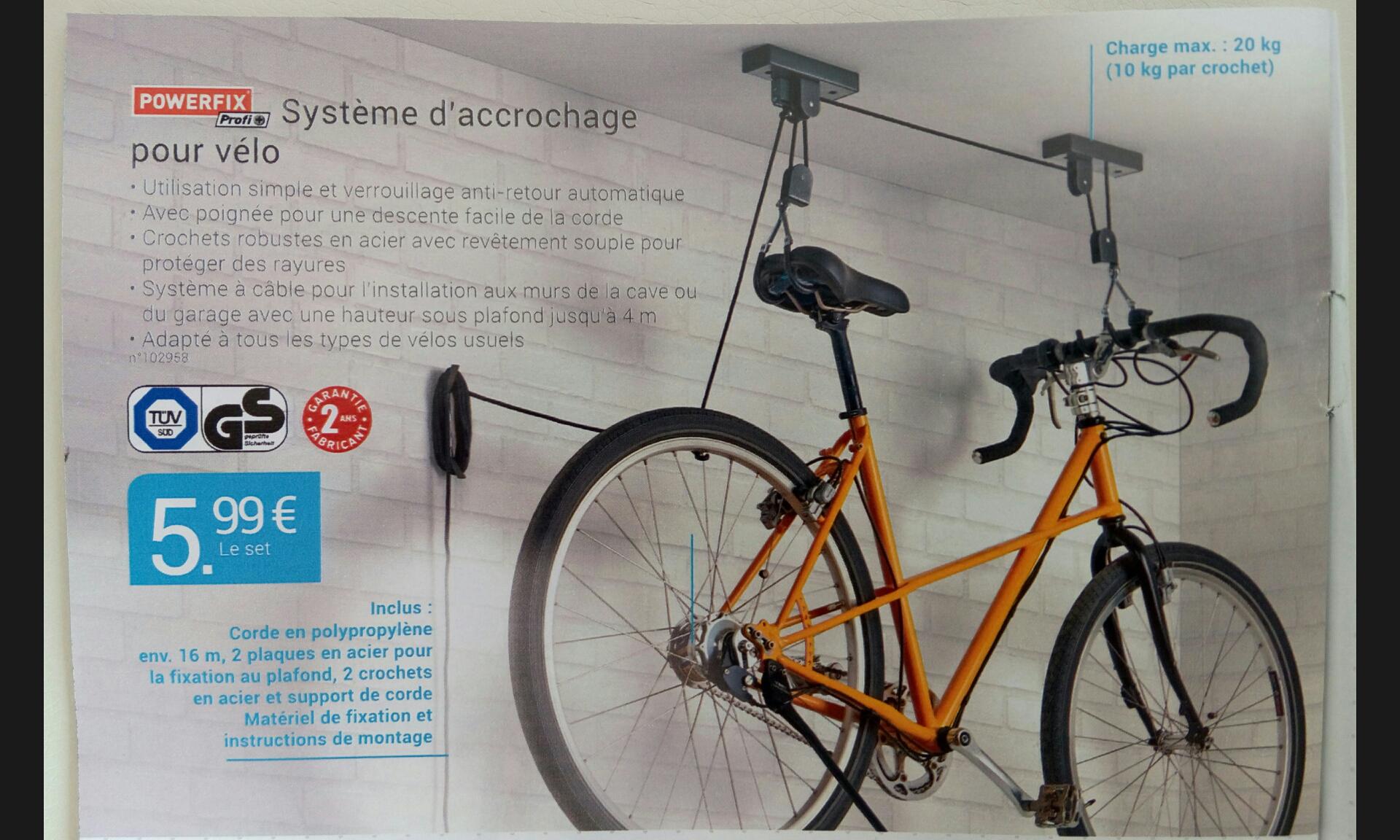 Support accrochage pour vélo