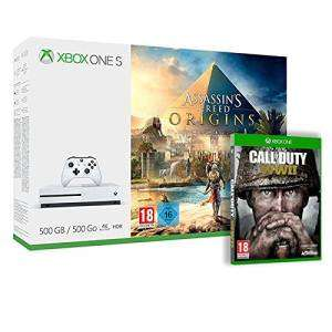 Console Microsoft Xbox One S Assassin's Creed Origins + Jeu Call of Duty : WWII