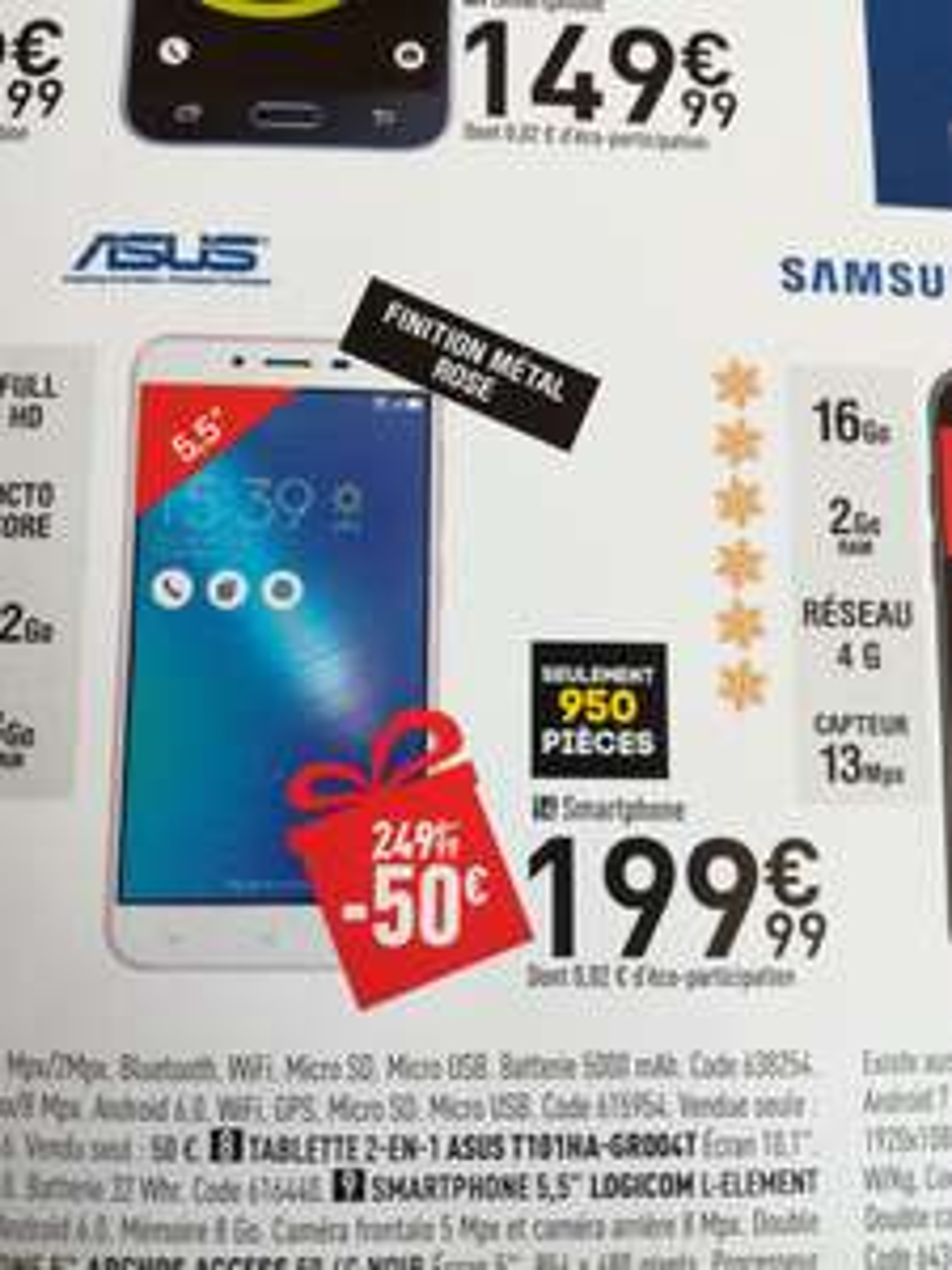 "Smartphone 5.5"" Asus Zenfone Max 3 Plus -  Rose"