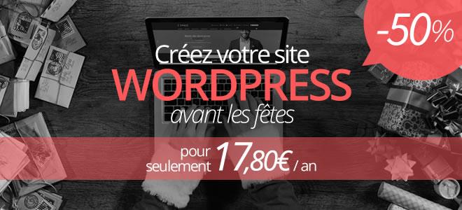 Pack d'hébergement Wordpress pendant 1 an