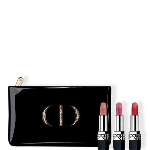 Coffret de rouges à lèvres Dior Noël - 3 teintes (Matte, Premiere, Rose Montaigne)