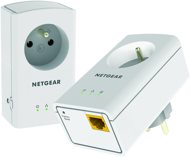 Pack de 2 adaptateurs CPL 500 Netgear XAVB5421-100FRS - avec prise filtrée et 1 port Ethernet