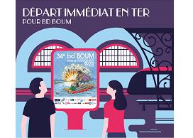 Billet TER aller-retour pour aller au BD Boum de Blois au départ d'une gare de la région Centre - Val de Loire