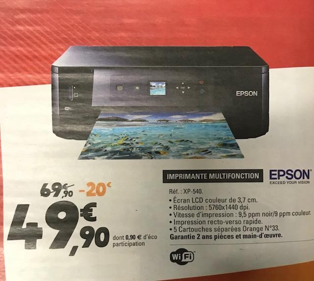 imprimante multifonction epson xp 540 via odr 25. Black Bedroom Furniture Sets. Home Design Ideas