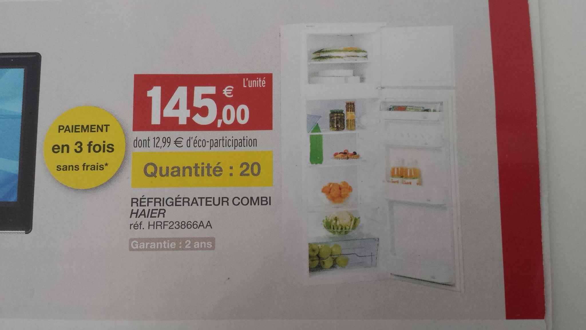 Réfrigérateur combi Haier 310L HRFZ386AA