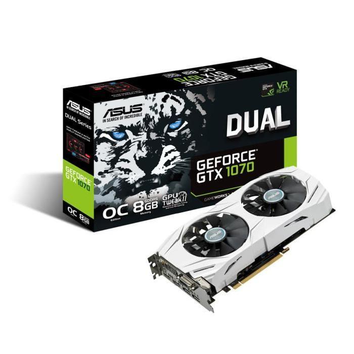 [Cdiscount à Volonté] Carte graphique Asus GeForce GTX 1070 Dual - 8 Go