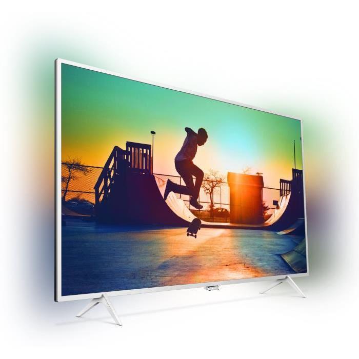 """[Cdiscount à volonté] TV LED 43"""" Philips 43PUS6432 4K Ultra-plat - Effet Ambilight - Android TV"""