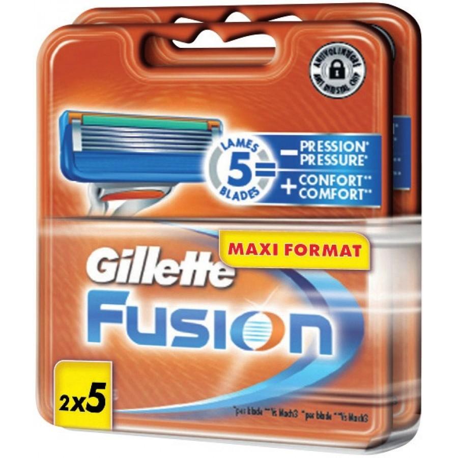 Pack de 10 lames Gillette Fusion (via 24.08€ sur la carte)