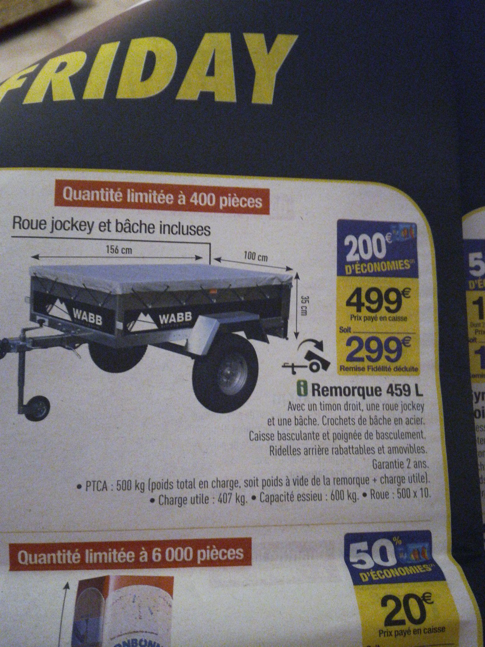 Remorque - 459l (via 200€ fidélité)