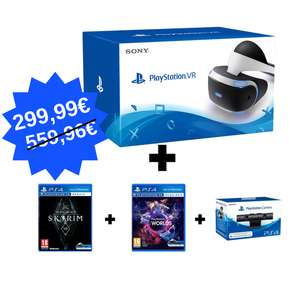 Pack Sony PlayStation : Casque PS VR + Skyrim VR + VR Worlds + Caméra