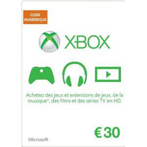 code xbox live d'une valeur de 30€