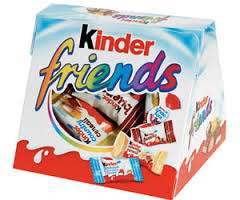 les 2 boites de Kinder friends