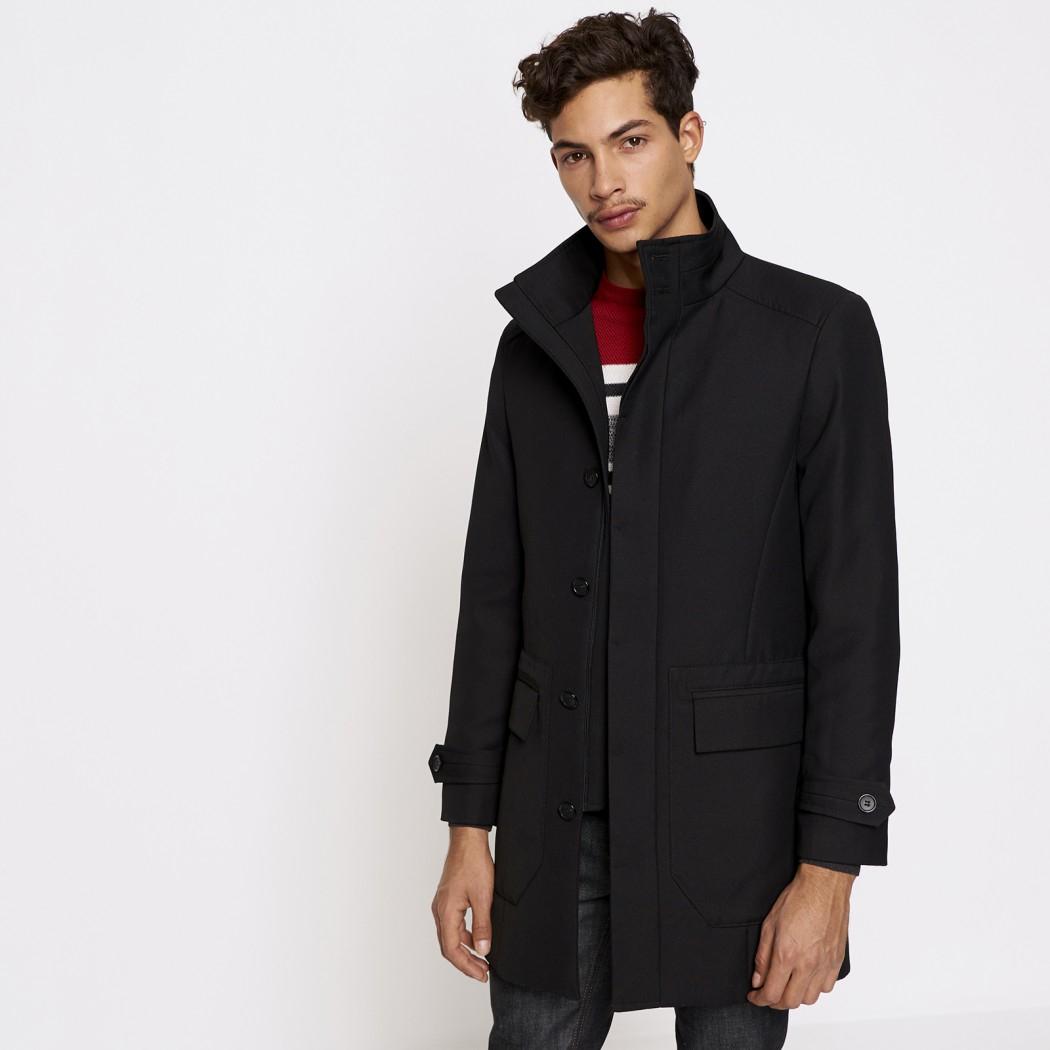 Sélection de manteaux en promotion - Ex : Pardessus Homme Noir