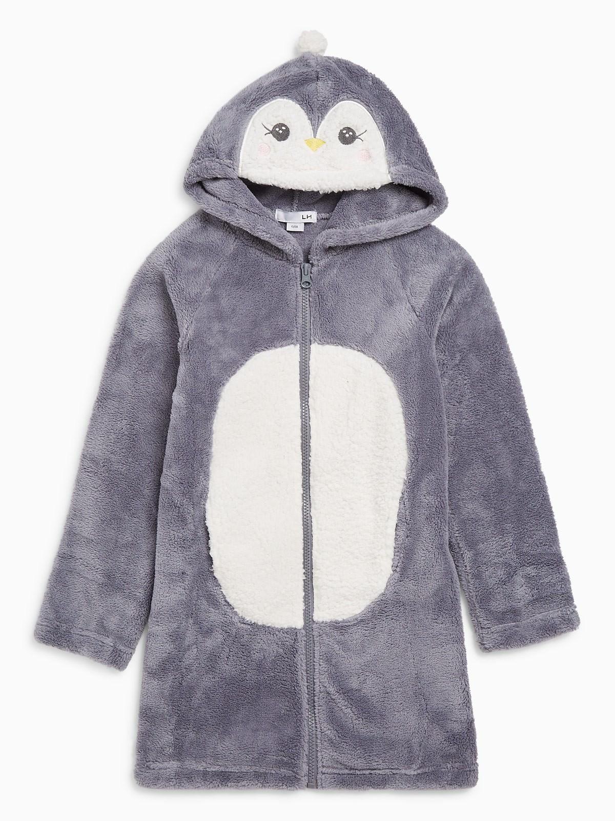 30% de réduction sur une sélection d'articles de nuit - Ex : Peignoir pingouin avec capuche