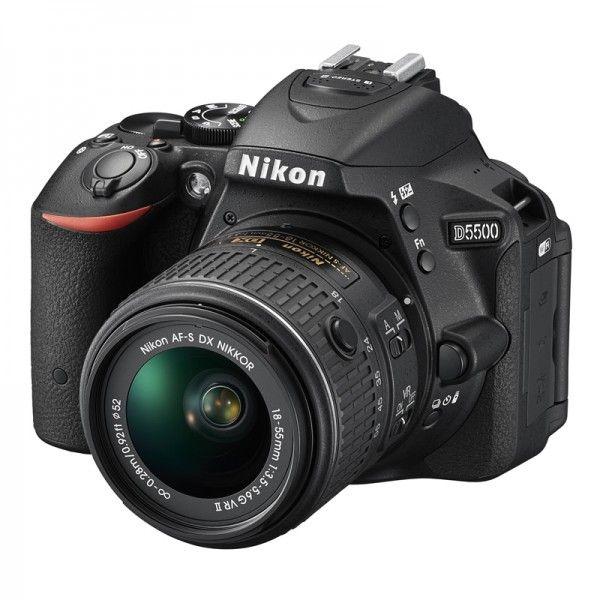 Appareil photo reflex Nikon D5500 + Objectif AF-S DX 18-55mm VR II Nikkor F3.5-5.6 G (+ 25.35€en SuperPoints)