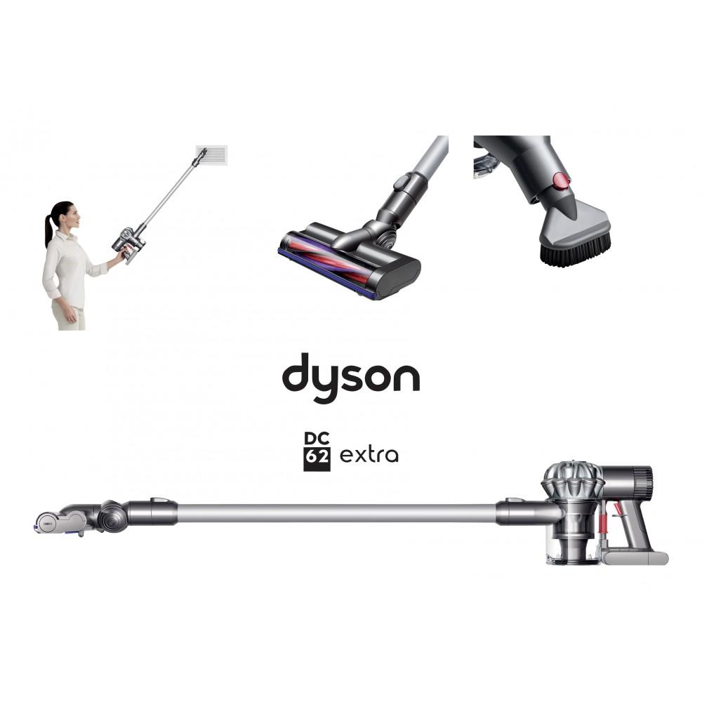 Aspirateur balai 3-en-1 Dyson DC62 Extra (via 150€ sur la carte)