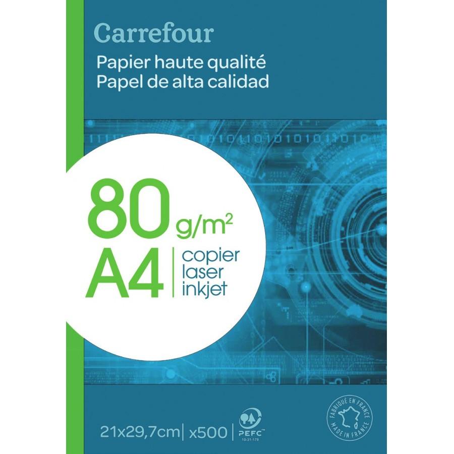Ramette 500 feuilles blanches A4 - 80g/m2 (Carrefour market)
