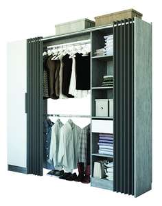 kit dressing tout en un 220x220x48cm. Black Bedroom Furniture Sets. Home Design Ideas