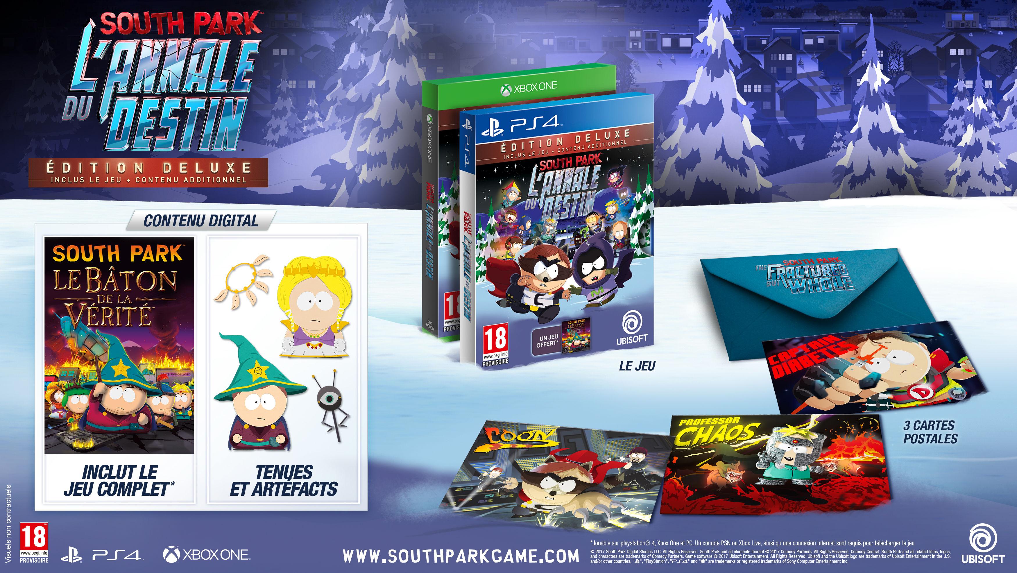 Sélection de jeux-vidéo en promotion - Ex : South Park l'Annale du Destin - Deluxe Edition sur PS4 et Xbox One