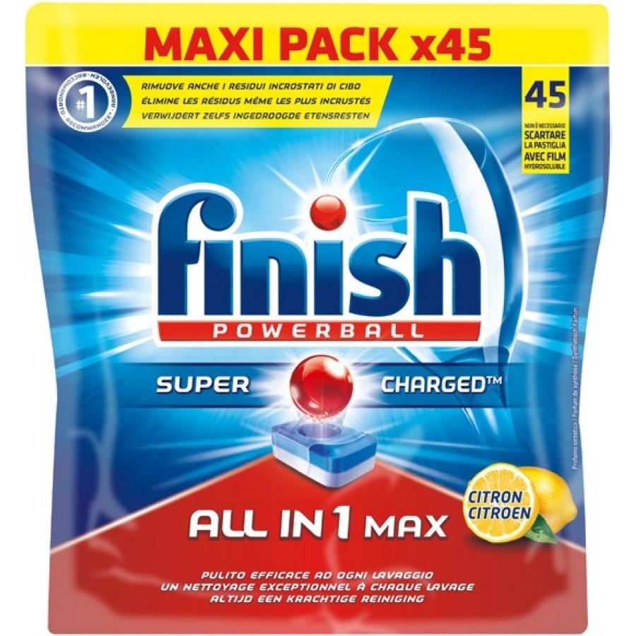 Tablettes lave-vaisselle Finish Tout en 1 - 4 x 45 pastilles