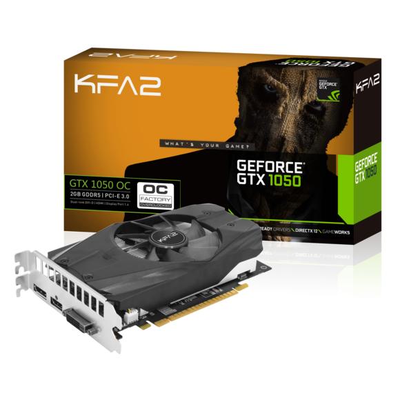 Carte Graphique KFA2GeForce GTX 1050 OC 2 Go