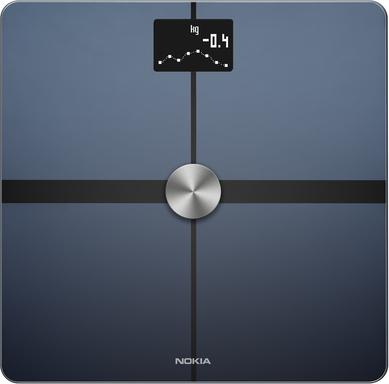 Balance connectée Nokia Body+ avec analyse de la composition corporelle (Noir ou Blanc)