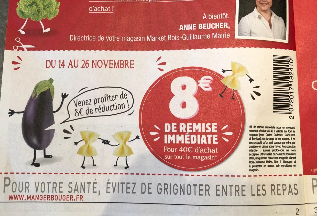8€ de réduction dès 40€ d'achat sur tout le magasin (Bois-Guillaume Mairie - 76)