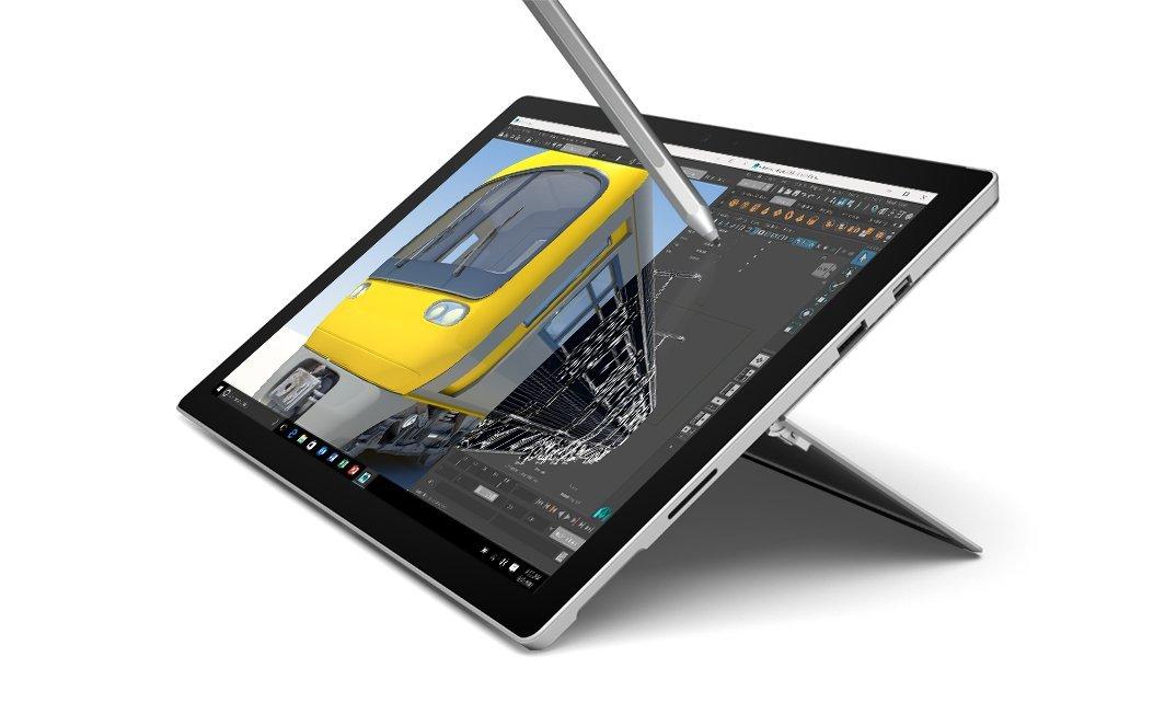 "Tablette PC 12.3"" Microsoft Surface Pro 4 (Intel Core i7, 16 Go RAM, 256 Go SSD) + Stylet"