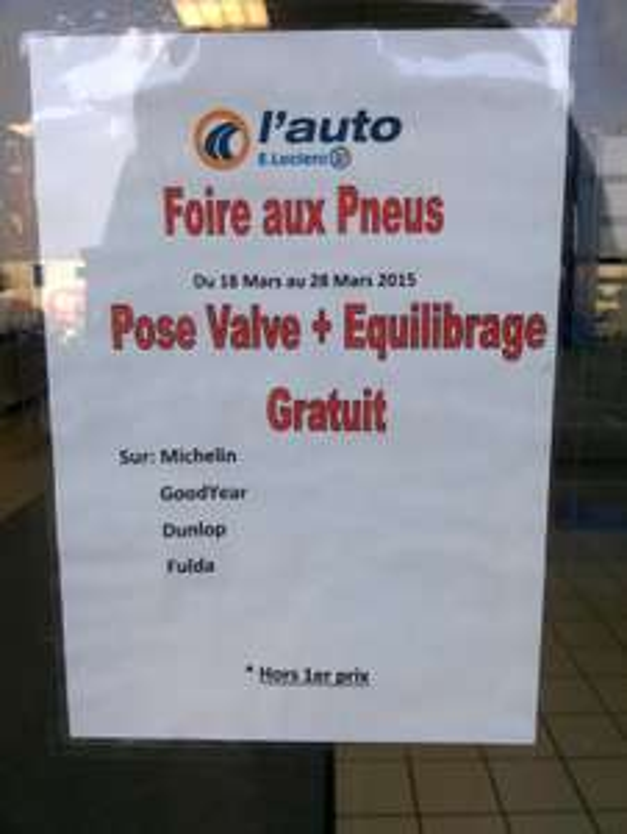 Montage pneus : Pose valve + équilibrage gratuit