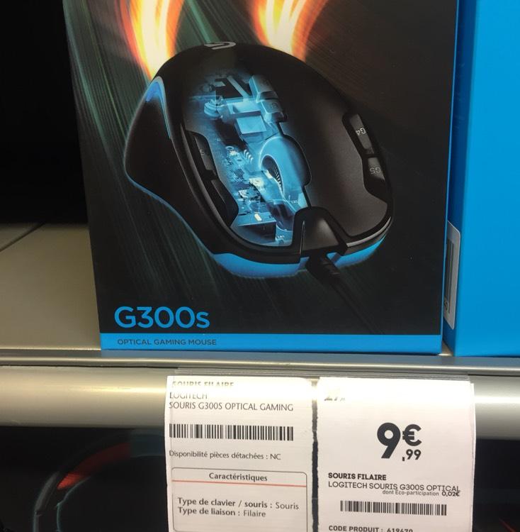 Souris gaming optique Logitech G300S - Noir (Conforama Herblay - 94)