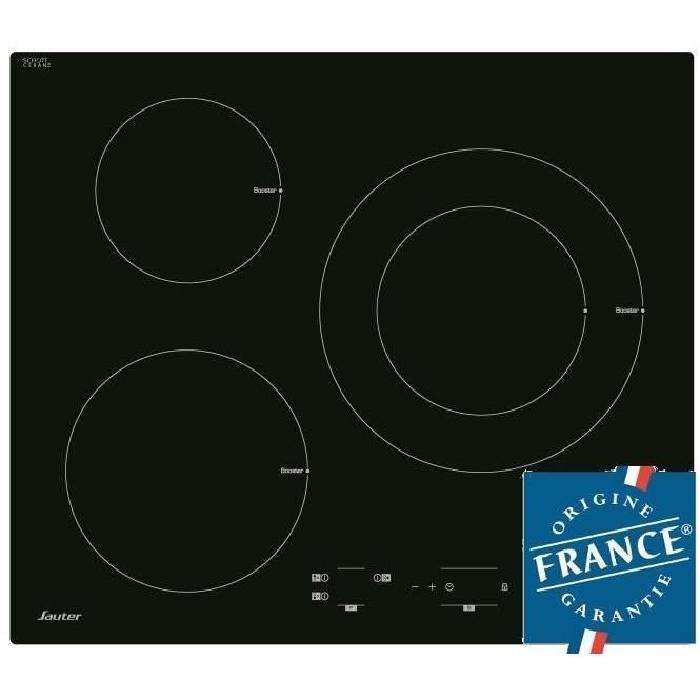 Table de cuisson Induction Sauter SPI4300B - 3 zones, 7200W, L60 x P52cm