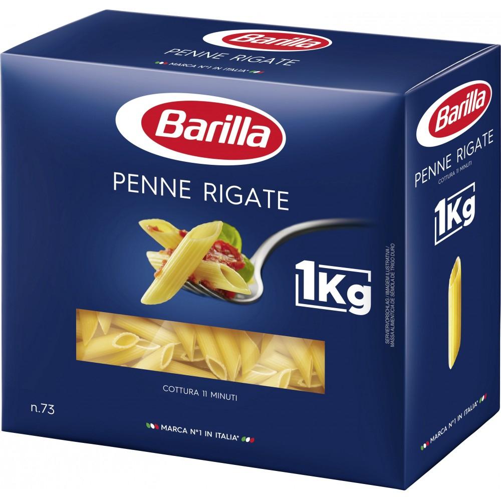 Lot de 3 paquets de pâtes Barilla - 1kg (Penne rigate, Spaghetti n° 5)