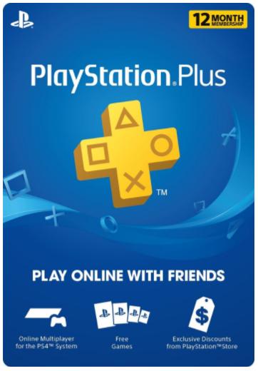 Abonnement 12 mois Playstation Plus (code US)