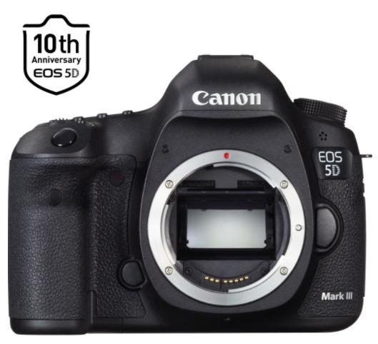 Reflex Boîtier nu Canon EOS 5D Mark III + Dragonne argent 10ème anniversaire