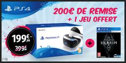 Casque de réalité virtuelle Playstation VR + Skyrim VR