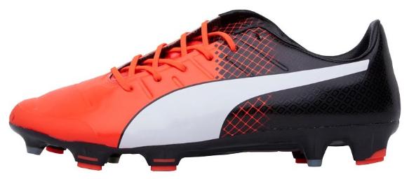 Chaussures de Football Puma EvoPower 1.3 FR Orange pour Hommes - Tailles au choix