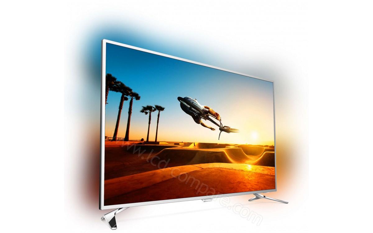 """TV LED 55"""" Philips 55PUS7272 avec Ambilight 3 Côtés - UHD 4K, 100hz, HDR, Smart TV"""