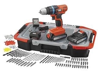 Perceuse visseuse sans fil Black & Decker EGBL 18 BAST - 2 batteries 18V, 1.5Ah, 160 accessoires (via 49.95 € sur la carte)