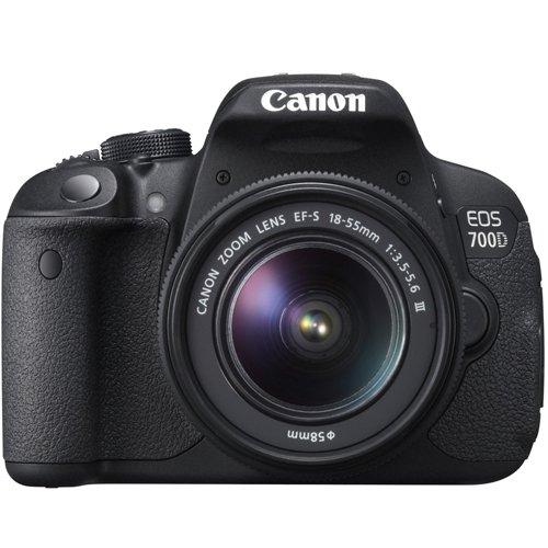Kit reflex Canon EOS 700D (18 MPix, APS-C, CMOS) + Objectif 18-55 mm IS STM