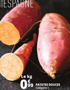 Le kilogramme de Patates douces